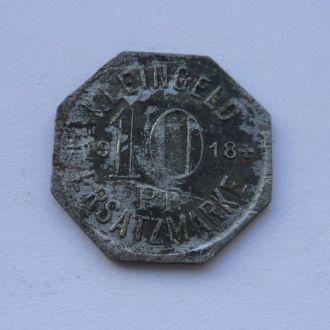 Германия нотгельд 10 пфеннигов 1918 г