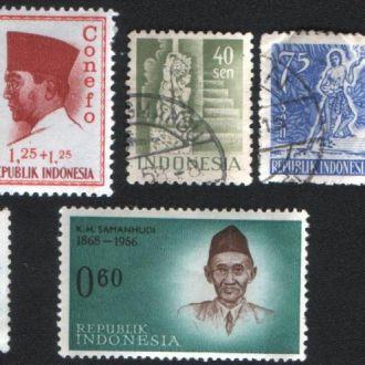Индонезия. Подборка старых марок