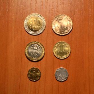 Чили - набор 6 монет