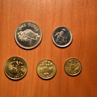 Сейшельские О-ва - набор 5 монет
