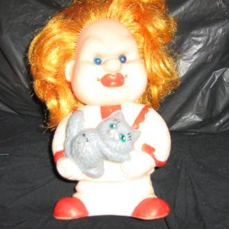 кукла  резиновая  Куклачев с кошкой