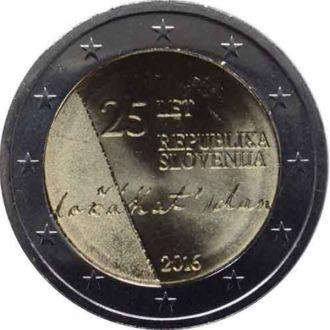 Словения, 2 евро 2016 25 лет независимости
