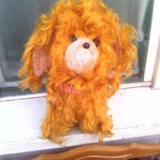 Кукла игрушка Собака СССР отличная 30см в ошейнике