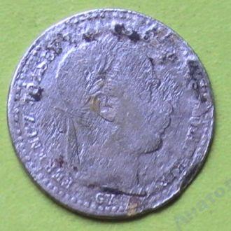 10 Крейцеров 1870 г GYF Серебро 10 Крейцерів 1870