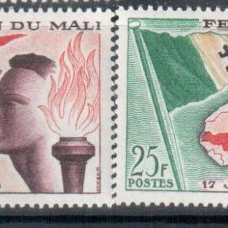 Мали 1959 основание флаг огонь карта  MNH
