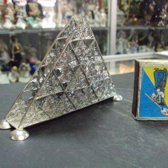 салфетница филигрань серебро  62 г