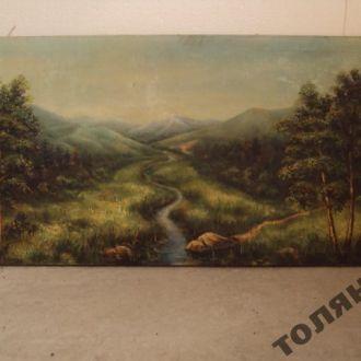 картина пейзаж горы
