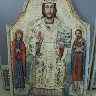 икона Иисус Христос Спас на троне 99,5 х 67,5 см