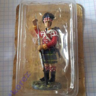 Оловянный солдатик Рядовой шотландского 92 Гордона полка 1815