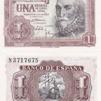 Spain Испания - 1 Peseta 1953 UNC / aUNC JavirNV