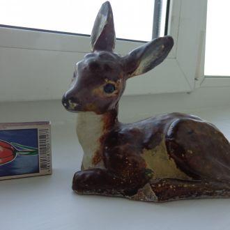 статуэтка олененок, керамика