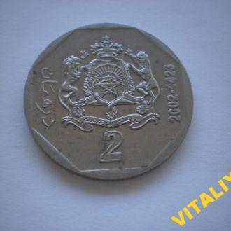 КОЛЕКЦІЙНА монета. АФРИКА. МАРОККО. 2 Дірхама 2002