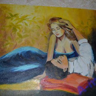 Картина маслом на холсте: Сны на яву 45х35