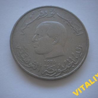 КОЛЕКЦІЙНА монета. АФРИКА. ТУНИС. 1 Динар 1976 рік