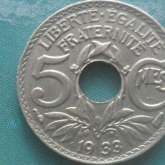 5 сентимов 1933 СОСТОЯНИЕ XF б/р!