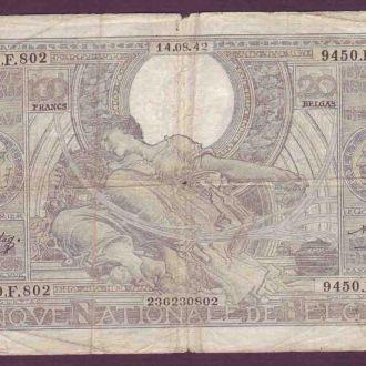 БЕЛЬГИЯ 1942 100 Франков