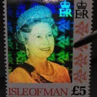 Остров мэн 1994 Королева Елизавета галограмма MNH