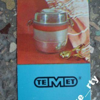 календарик 1986 реклама Термос ТЕМП - №5