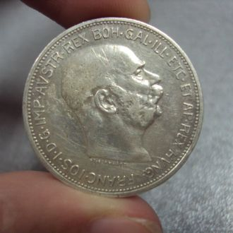 2 короны 1912 г Австро-Венгрия серебро 9,97 г