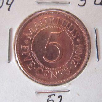 5 центов Маврикий 2004 состояние