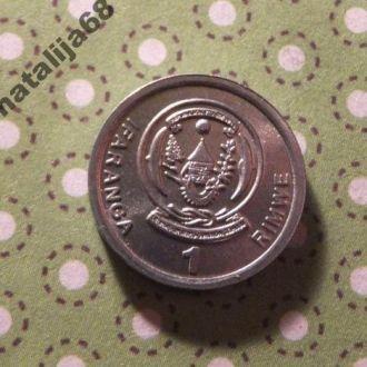 Руанда 2003 год монета 1 франк !