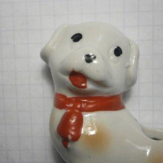 Собака фарфор спецовник подставка