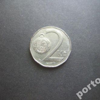 2 кроны Чехия 1995