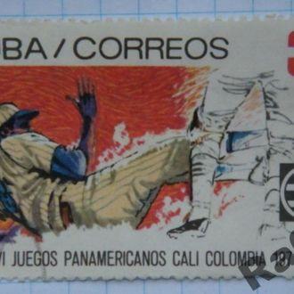 Марка почта Куба 1971 Бейсбол Спорт