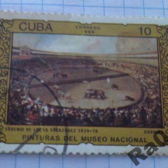 Марка почта Куба 1986 Лукас Веласкес Коррида