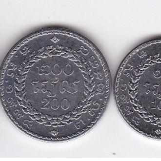 Камбоджа - набор 50 100 200 500 Riels 1994 UNC