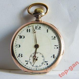 Карманные серебряные часы с позолотой Election