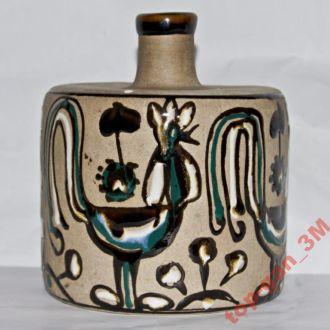 Бутылка-Керамика УССР-клейма-номер.Редкость!