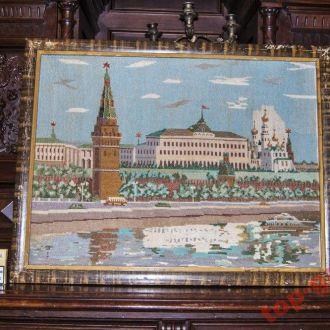 Соцреализм.Вышитая картина 50-60-х годов Москва