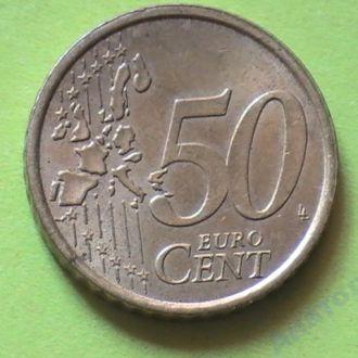 50 Евроцентов 2002 г Италия 50 Центов 2002 р