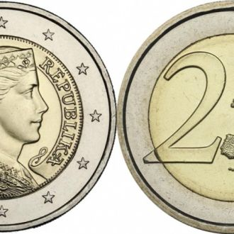 Латвия, 2 евро 2014 год