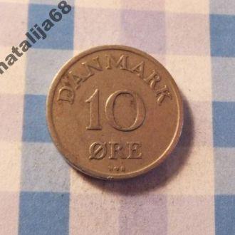 Дания 1951 год монета 10 эре !