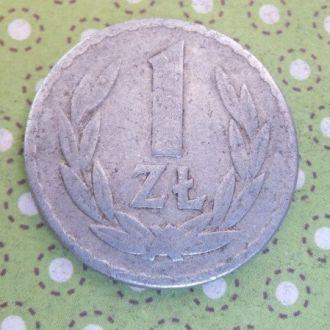 Польша монета 1 злотый 1965 год !