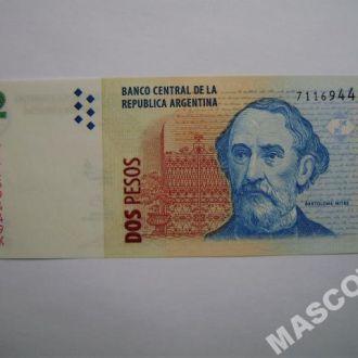 Аргентина 2 песо 2010г