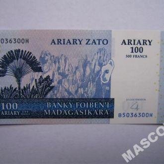 Мадагаскар 100 ариари (500 франков) 2004г