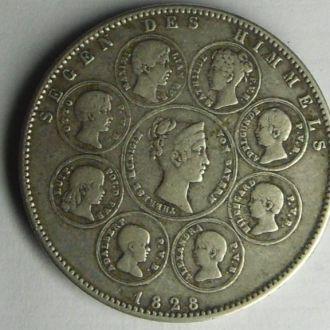 Германия  1 талер 1828 г Фамильный