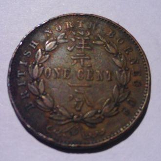 Британское Северное Борнео 1 цент 1885 г