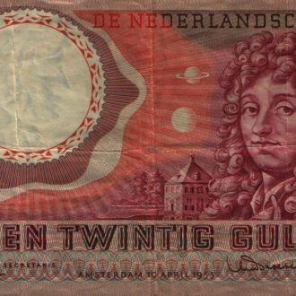Нидерланды 25 гульденов 1955 г XF Редкая