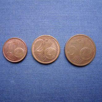 Германия 1,2,5 евро центов 2010/2007/2002 гг
