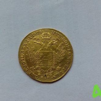 Австро-Венгрия 1 дукат 1825 год,золото раритет