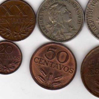 португалия 10,20,50сен и 1 эскудо 1960-70гг