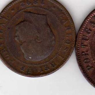 португалия   5,10 и 20 рейс 1905,1892,1891гг