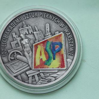 Польша,10 злотых 2004 100 лет Арт академия СЕРЕБРО