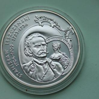 Польша,10 злотых 2003 Станислав Лещински СЕРЕБРО