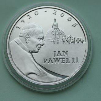 Польша,10 злотых 2005 Ян Павел II СЕРЕБРО