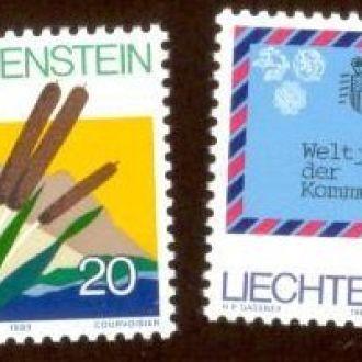 Лихтенштейн 1983 флора шары авиация почта ** о